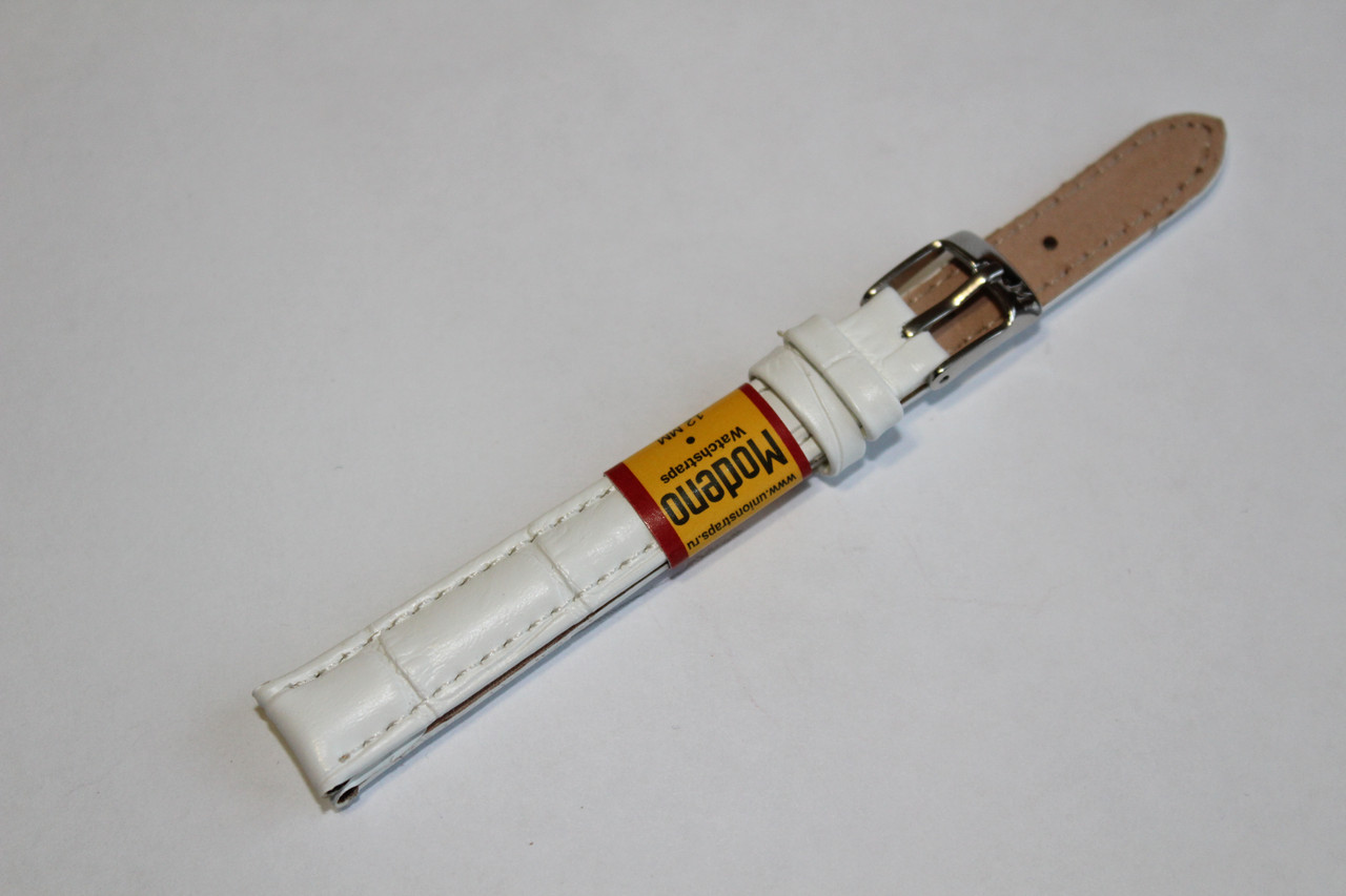 Ремешок для часов Modeno-кожаный ремень для часов белого цвета 12 мм.