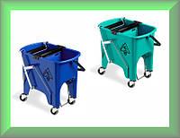 Ведро для уборки с отжимом SQUIZZY 15л на колесах 0В006415 TTS Италия (синее)