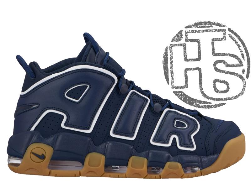 Мужские кроссовки Nike Air More Uptempo Blue/Brown 921948-400