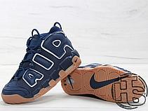 Мужские кроссовки Nike Air More Uptempo Blue/Brown 921948-400, фото 3