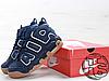 Мужские кроссовки Nike Air More Uptempo Blue/Brown 921948-400, фото 4
