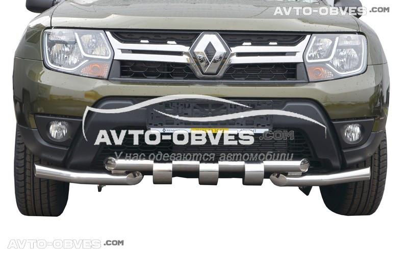 Защита нижнего бампера специально Renault Duster 2010-2017