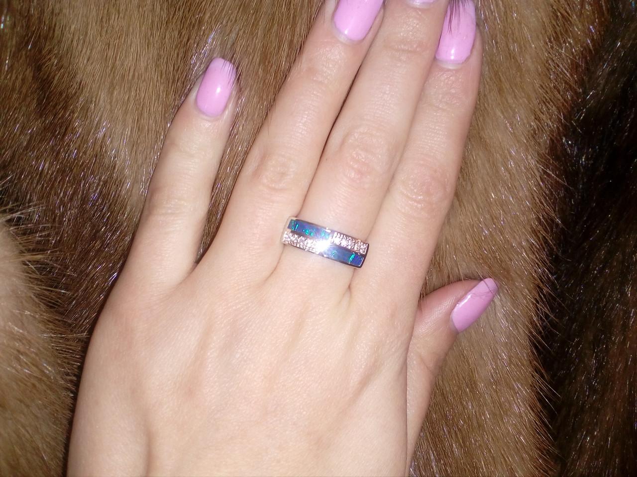 Оригинальное кольцо с огненным опалом в серебре 17 размер. Кольцо - огненный опал!