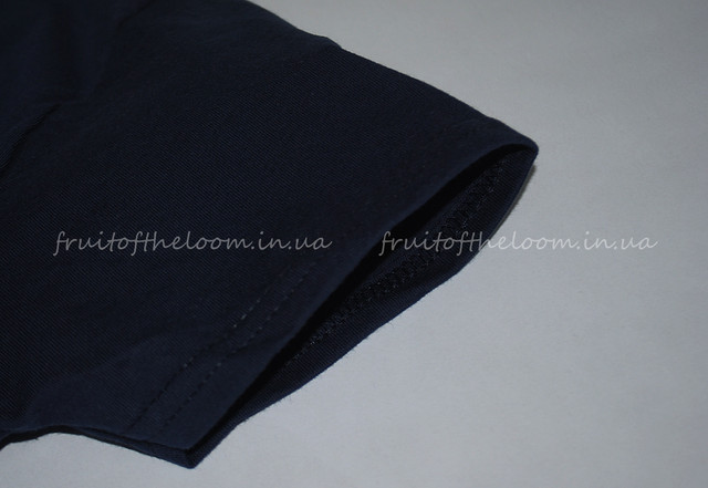 Глубоко тёмно-синяя  премиум  женская футболка
