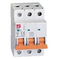 Модульний автоматичний вимикач LS, BKN-b, 3 полюс, 1A-63A, крива D, 10kA