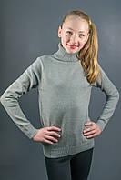 Гольф Many&Many тёплый для девочки-подростка, цвет серый., фото 1