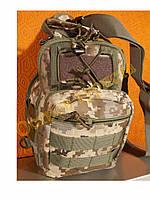 Сумка кобура барсетка тактическая 7218 камуфляжная пиксель, фото 1