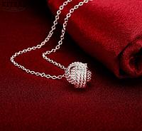 Красивый женский кулон Серебряный узел!