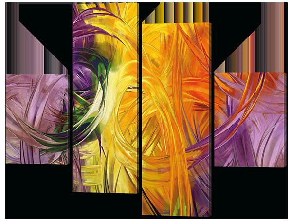 Картина из четырех частей Абстрация