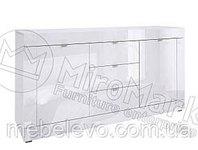 Венеция Комод 1,6 м 850х1600х420мм белый глянец   Миро-Марк