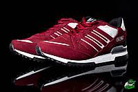 Кроссовки мужские стильные Adidas ZX Flux Red (адидас) (реплика)