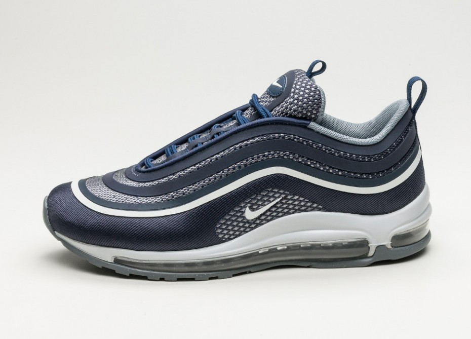 Кроссовки мужские Nike Air Max 97 Midnight Navy   White - Cool Grey