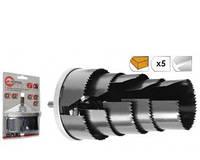 Набор корончатых сверл по гипсокартону составной, 26-63мм, 7 размеров, высота 43мм INTERTOOL BT-0022