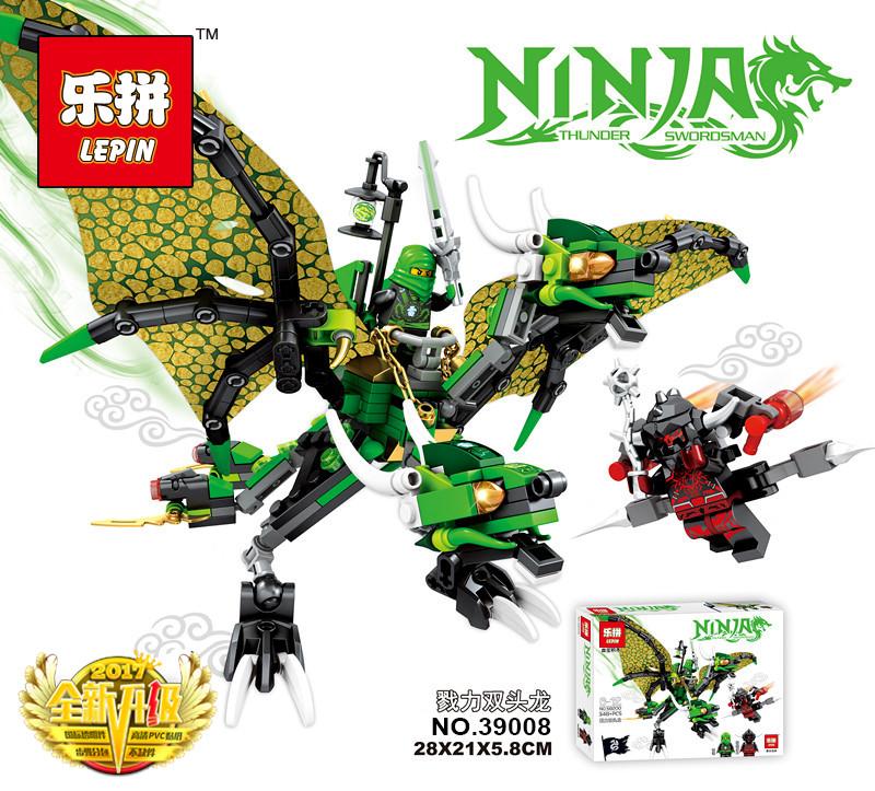Конструктор Lepin «Зелёный Дракон Ллойда» 300 дет.