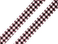 Лента клетчатая коричневая 18 мм