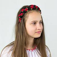 Обруч - Бархатные цветочки