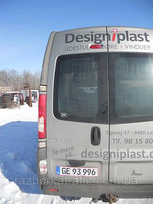 Дверь задняя высокая (парус) левая оливковая на Renault Trafic, Opel Vivaro, Nissan Primastar