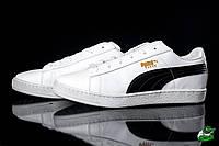 Кроссовки мужские низкие Puma Suede белые (реплика)