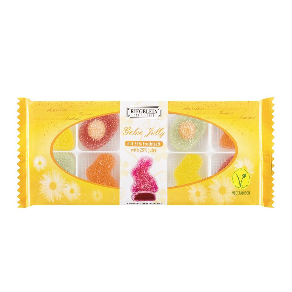 Пасхальные мармеладные конфеты в форме зайчиков и яичницы «Riegelein Confiserie», 150 g. Германия
