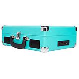 Граммофон  BUSH   ретро чемодан  голубой, фото 3