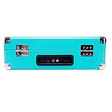 Граммофон  BUSH   ретро чемодан  голубой, фото 4