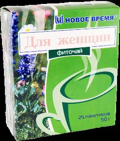 """Чай для женщин, при мастопатии, нарушении менструального цикла """"Для женщин"""" Новое время, 25 пак. (50 г)"""