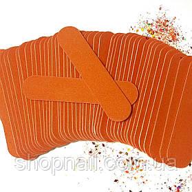 Одноразовая пилочка, оранжевая 180/240 гритт, 100 шт\уп
