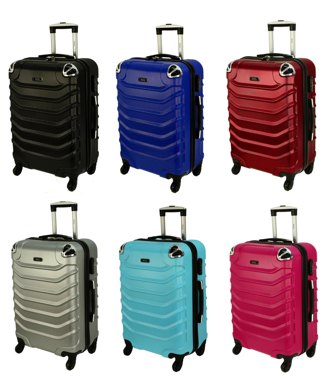 Дорожный чемодан RGL 730 поликарбонат с выдвижной ручкой на колесах  (Большой) 220cba42591