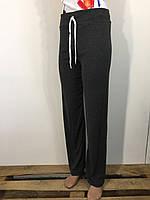 Штаны спортивные женские серые без манжета