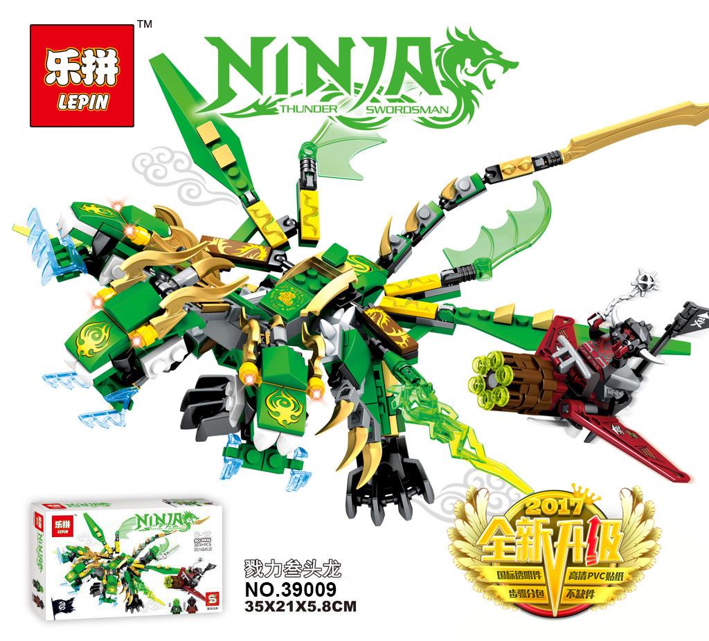 Конструктор Lepin «Трехголовый Зеленый Дракон» 350 дет.