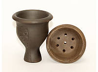 TRK19-3 Чаша глиняная большая под калауд, Чаша для кальяна, Внешняя чаша для кальяна, Глиняная чаша с дырками