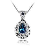 Красивый женский кулон с большим синим камнем!, фото 1