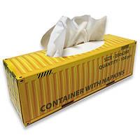 Салфетки бумажные «Контейнер желтый», фото 1