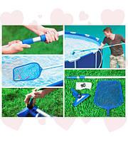 Intex 28002 Набор для чистки бассейнов до 488 см (ручка 239 смп, сачок, вакуумная насадка с мешком)