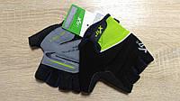 Велоперчатки - X-17 - XGL-511GR зелено-черные