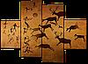 Модульная картина на коже Охота 126*93 см