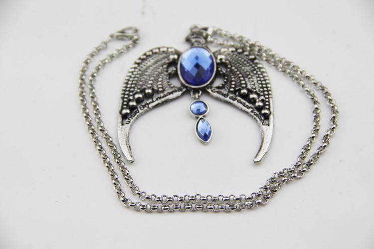 Красивый женский кулон Орел с синим камнем!
