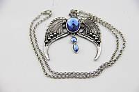 Красивый женский кулон Орел с синим камнем!, фото 1