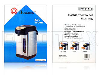 Термопот 1500Вт 3,0л Domotec MS-3L