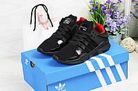 Женские кроссовки Adidas Equipment adv 91-17 (черные), ТОП-реплика, фото 1