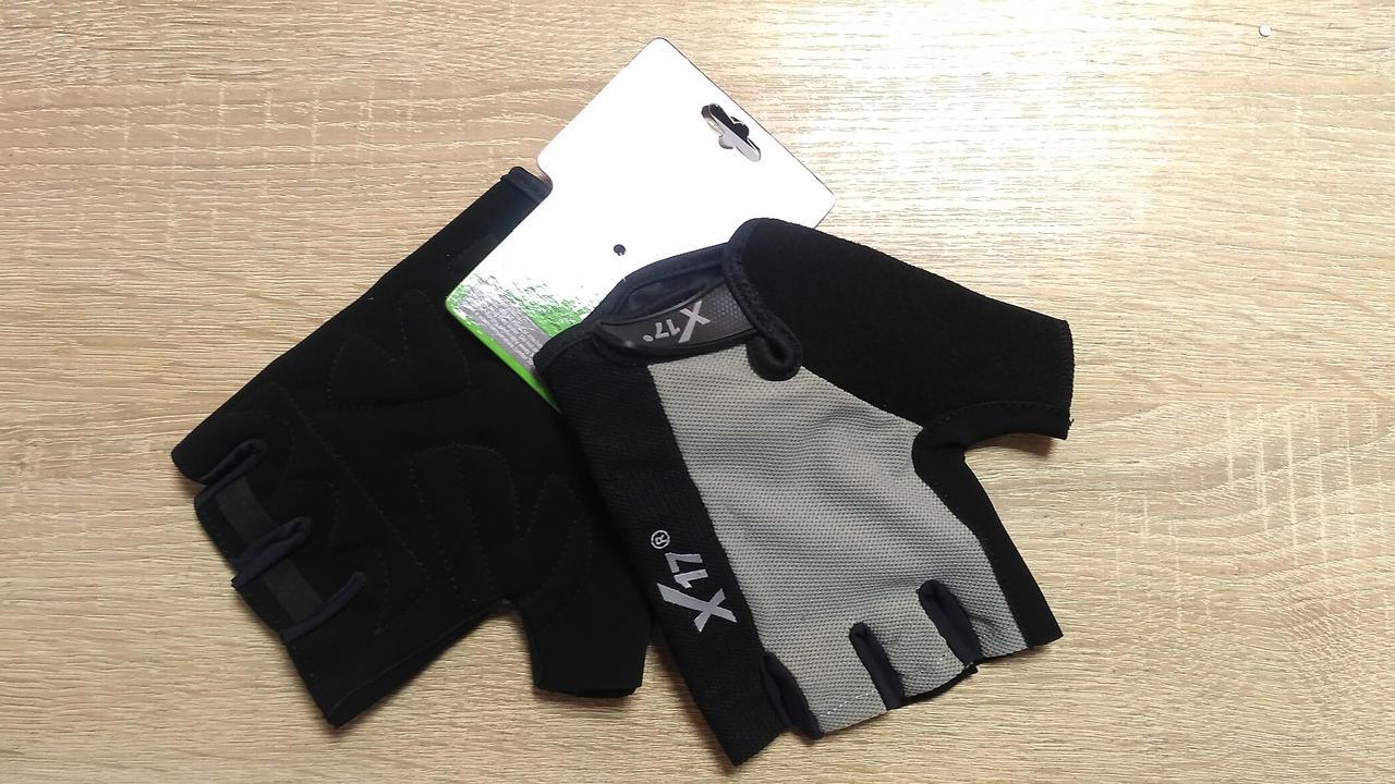 Велоперчатки - X-17 - XGL-527GY серо-черные