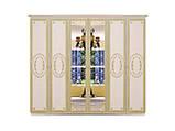 Шафа (шкаф) з ДСП/МДФ в спальню/вітальню/дитячу беж Прімула 6Д Миро-Марк, фото 2
