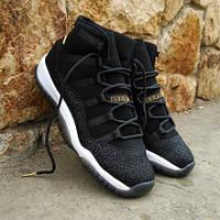 Кроссовки женские Air Jordan 11 Heiress Black Gold черные с золотом