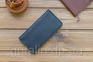 Бумажник ручной работы из натуральной кожи цвет черный