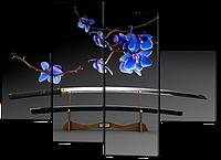 Модульная картина Katana (длинный японский меч) 126*93 см