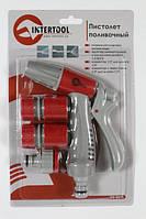 """TM """" INTERTOOL """" GE-0016 Пістолет-розпилювач для поливу з плавним регулюванням потоку води"""