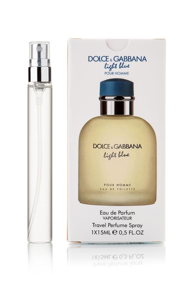 Мужской парфюм ручка Dolce & Gabbana Light Blue  Pour Homme - 15 мл