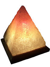 Соляна лампа «Піраміда Єгипетська» 4-5 кг. Біла,кольорова лампа