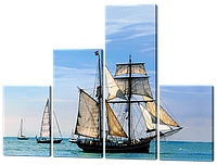 Модульная картина Морская тематика 126*93.5 см