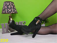 Ботильоны ботинки на тракторной подошве с высоким голенищем, демисезонная женская обувь